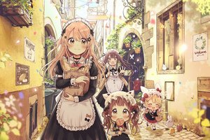 Rating: Safe Score: 108 Tags: animal apron bird blonde_hair blush brown_eyes brown_hair building butterfly candy catgirl city flowers food hat headband loli lollipop long_hair maid original rabbit red_hair sakura_oriko twintails User: BattlequeenYume