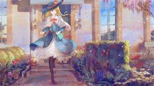 Rating: Safe Score: 60 Tags: alice_margatroid blonde_hair dress flowers hat jq long_hair pantyhose petals ribbons touhou User: RyuZU