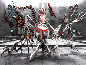 Rating: Safe Score: 200 Tags: calne_ca deino hatsune_miku long_hair red_eyes skirt tagme vocaloid white_hair User: opai