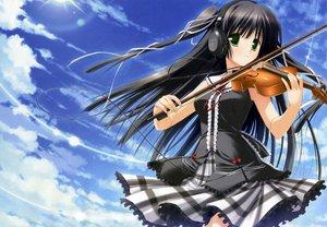 Rating: Safe Score: 59 Tags: headphones instrument minna_no_uta sakaki_maki scan skirt sky violin User: 秀悟