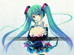 Rating: Safe Score: 35 Tags: hatsune_miku thighhighs vocaloid User: Zloan