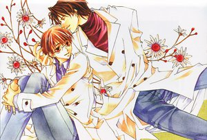 Rating: Safe Score: 10 Tags: bokura_no_unsei brown_eyes brown_hair flowers matsumoto_temari shounen_ai User: Oyashiro-sama