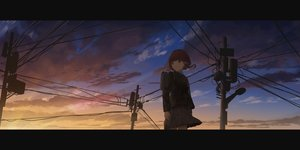 Rating: Safe Score: 38 Tags: clouds dark gh_(chen_ghh) iwakura_lain school_uniform serial_experiments_lain sunset User: FormX