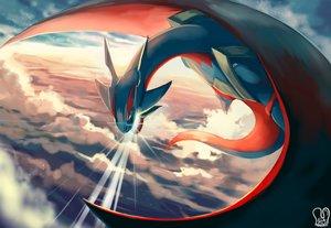 Rating: Safe Score: 100 Tags: clouds dragon mega_salamence pokemon sa-dui salamence sky watermark User: FormX
