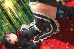 Rating: Safe Score: 244 Tags: aliasing bicolored_eyes date_a_live flowers forest garter maid oekakizuki rose thighhighs tokisaki_kurumi tree User: luckyluna