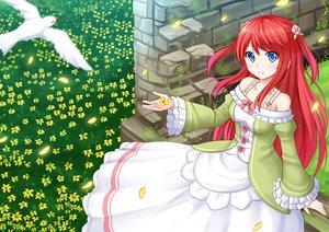 Rating: Safe Score: 122 Tags: animal bird blue_eyes flowers kazenokaze long_hair red_hair re:zero_kara_hajimeru_isekai_seikatsu thearesia_van_astrea User: RyuZU