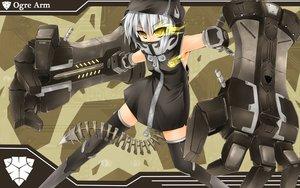 Rating: Safe Score: 89 Tags: black_rock_shooter hoodie koutari_yuu kuragari tail thighhighs weapon yellow_eyes User: HawthorneKitty