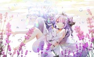 Rating: Safe Score: 65 Tags: anthropomorphism azur_lane barefoot bubbles dress flowers long_hair purple_eyes purple_hair tagme_(artist) underwater unicorn_(azur_lane) water User: BattlequeenYume