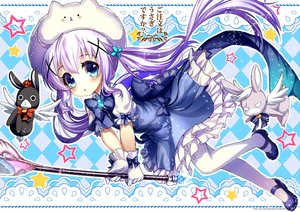 Rating: Safe Score: 83 Tags: abondz animal anko_(gochuumon_wa_usagi_desu_ka?) blue_eyes blush bunny dress gochuumon_wa_usagi_desu_ka? kafuu_chino pantyhose pink_hair staff tippy_(gochuumon_wa_usagi_desu_ka?) twintails weapon User: Wiresetc