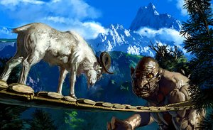 Rating: Safe Score: 39 Tags: animal denchi horns three_billy_goats_gruff tree User: FormX