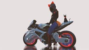 Rating: Safe Score: 75 Tags: black_hair bow jiji_(character) kiki majo_no_takkyuubin motorcycle short_hair snatti third-party_edit witch User: boomshadow
