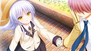 Rating: Safe Score: 42 Tags: angel_beats! game_cg key male na-ga otonashi_yuzuru tachibana_kanade yellow_eyes User: Tensa