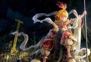 Rating: Safe Score: 104 Tags: archlich barefoot blonde_hair red_eyes ribbons skull toramaru_shou touhou User: opai