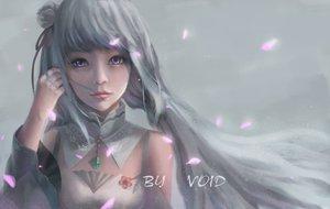 Rating: Safe Score: 106 Tags: close collar emilia_(re:zero) gray_hair long_hair petals purple_eyes re:zero_kara_hajimeru_isekai_seikatsu signed void_0 User: FormX