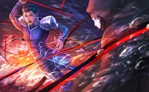 Rating: Safe Score: 5 Tags: all_male black_hair bodysuit cu_chulainn fate_(series) fate/stay_night male red_eyes short_hair spear suikatabetaifrom true_assassin weapon User: RyuZU