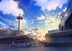 Rating: Safe Score: 32 Tags: brown_hair building city clouds niko_p original scenic signed sky sunset User: RyuZU