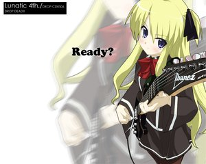 Rating: Safe Score: 10 Tags: blonde_hair bow drop_dead guitar instrument long_hair quiz_magic_academy school_uniform shalon zoom_layer User: Oyashiro-sama