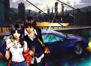 Rating: Safe Score: 17 Tags: building car city drink gainax katsuragi_misato male neon_genesis_evangelion ryoji_kaji sadamoto_yoshiyuki signed watermark User: RyuZU