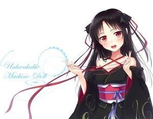 Rating: Safe Score: 209 Tags: black_hair blush japanese_clothes kikou_shoujo_wa_kizutsukanai kimono long_hair red_eyes ribbons yaguo yaya User: FormX