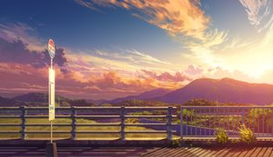 Rating: Safe Score: 52 Tags: bozu_(ogiyama) clouds landscape nobody original scenic sky sunset User: RyuZU