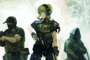 Rating: Safe Score: 172 Tags: amane_suzuha green_eyes huke steins;gate weapon User: aoyoru