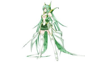 Rating: Safe Score: 212 Tags: anthropomorphism boots breasts cleavage daive elbow_gloves gloves green_hair long_hair pointed_ears pokemon red_eyes serperior skirt sword thighhighs weapon white zettai_ryouiki User: C4R10Z123GT