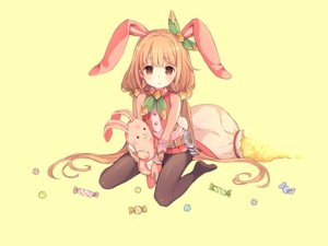 Rating: Safe Score: 222 Tags: animal_ears blonde_hair brown_eyes bunny bunny_ears bunnygirl candy cosplay crossover futaba_anzu granblue_fantasy idolmaster idolmaster_cinderella_girls loli long_hair pantyhose third-party_edit twintails wristwear yashiro_seika yellow User: otaku_emmy
