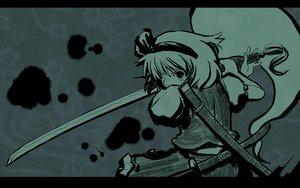 Rating: Safe Score: 36 Tags: katana konpaku_youmu myon sword touhou weapon User: Oyashiro-sama