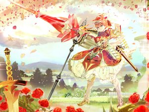 Rating: Safe Score: 87 Tags: 119 armor dress flowers gun original petals rose sword weapon User: FormX