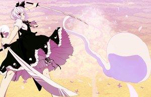 Rating: Safe Score: 122 Tags: bow butterfly dress ishikkoro konpaku_youmu myon sword touhou weapon User: opai