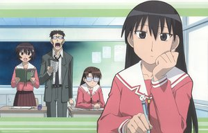 Rating: Safe Score: 22 Tags: azumanga_daioh black_hair brown_eyes brown_hair glasses kagura kimura long_hair mizuhara_koyomi sakaki seifuku User: Maho