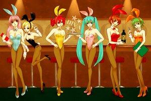 Rating: Safe Score: 65 Tags: animal_ears bunny_ears bunnygirl gumi hatsune_miku kagamine_rin kasane_teto megurine_luka meiko pantyhose utau vocaloid User: HawthorneKitty