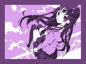 Rating: Safe Score: 17 Tags: bakemonogatari monogatari_(series) purple senjougahara_hitagi User: 秀悟