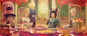 Rating: Safe Score: 115 Tags: animal_ears aqua_eyes black_hair blonde_hair book bow braids breasts brown_eyes cake cherry cleavage drink elbow_gloves flowers food fruit glasses gloves group hat lack lolita_fashion male original pointed_ears red_eyes rose short_hair suit tiara twintails white_hair yellow_eyes User: Flandre93