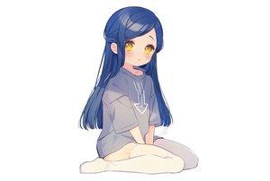 Rating: Safe Score: 68 Tags: blue_hair blush garter_belt honzuki_no_gekokujou loli long_hair myne rinndouk signed stockings white yellow_eyes User: otaku_emmy