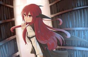 Rating: Safe Score: 100 Tags: demon hinami047 koakuma long_hair red_eyes red_hair touhou wings User: Flandre93