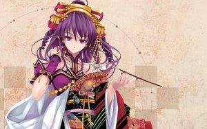 Rating: Safe Score: 131 Tags: beatmania cradle diverse_system hifumi japanese_clothes misaki_kurehito purple_eyes purple_hair User: Oyashiro-sama