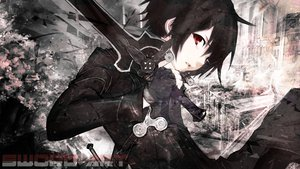 Rating: Safe Score: 205 Tags: black_hair jaehito kirigaya_kazuto red_eyes short_hair sword sword_art_online weapon User: C4R10Z123GT