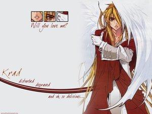 Rating: Safe Score: 26 Tags: all_male blonde_hair dnangel gloves krad long_hair male sugisaki_yukiru white wings yellow_eyes User: Oyashiro-sama