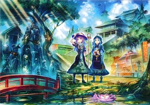 Rating: Safe Score: 81 Tags: boots building clouds dress flowers futatsuiwa_mamizou hat hijiri_byakuren houjuu_nue kumoi_ichirin moriya_suwako purple_eyes purple_hair rumia scan sky staff stairs tatara_kogasa touhou tree umbrella unzan water zounose User: C4R10Z123GT