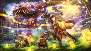 Rating: Safe Score: 68 Tags: animal dragon frog japanese_clothes lolita_fashion long_hair original rabbit spear sui_(petit_comet) thighhighs weapon User: Flandre93