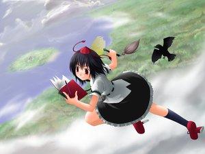 Rating: Safe Score: 2 Tags: black_hair hat shameimaru_aya touhou User: Oyashiro-sama