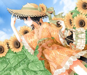 Rating: Safe Score: 67 Tags: akatsuki_no_kemono animal_ears black_hair catgirl flowers japanese_clothes kanzaki_miku kuroinu lolita_fashion sunflower yukata User: HawthorneKitty