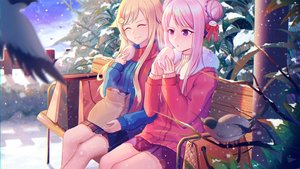 Rating: Safe Score: 29 Tags: 2girls animal bird blonde_hair food himehina_channel long_hair pink_hair pos2457564744 purple_eyes scarf skirt snow suzuki_hina tanaka_hime User: FormX