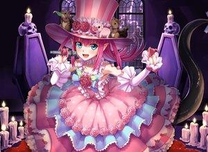 Rating: Safe Score: 35 Tags: aqua_eyes blood dousunnen dress elizabeth_bathory_(fate) fate/grand_order fate_(series) lolita_fashion long_hair pink_hair pointed_ears tail User: Fepple