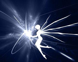 Rating: Safe Score: 10 Tags: ayanami_rei neon_genesis_evangelion silhouette wings User: Oyashiro-sama