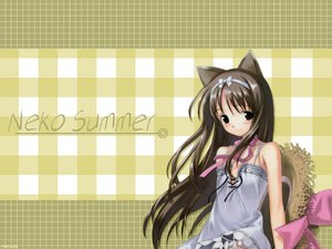Rating: Safe Score: 9 Tags: animal_ears catgirl hat summer User: valeria_chan_al