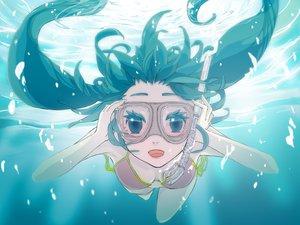 Rating: Safe Score: 61 Tags: bikini gabaisuito-n goggles hatsune_miku swimsuit underwater vocaloid water User: anaraquelk2