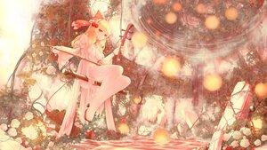 Rating: Safe Score: 33 Tags: blonde_hair dress flowers headband instrument long_hair orange_eyes polychromatic rose satsuki_rin seelehan touhou water User: BattlequeenYume