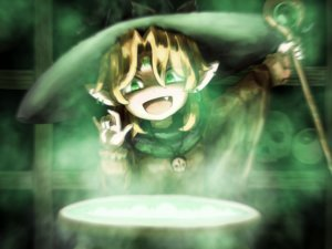 Rating: Safe Score: 14 Tags: blonde_hair fang green green_eyes hat magic mizuhashi_parsee necklace pointed_ears shirosato staff touhou witch_hat User: otaku_emmy
